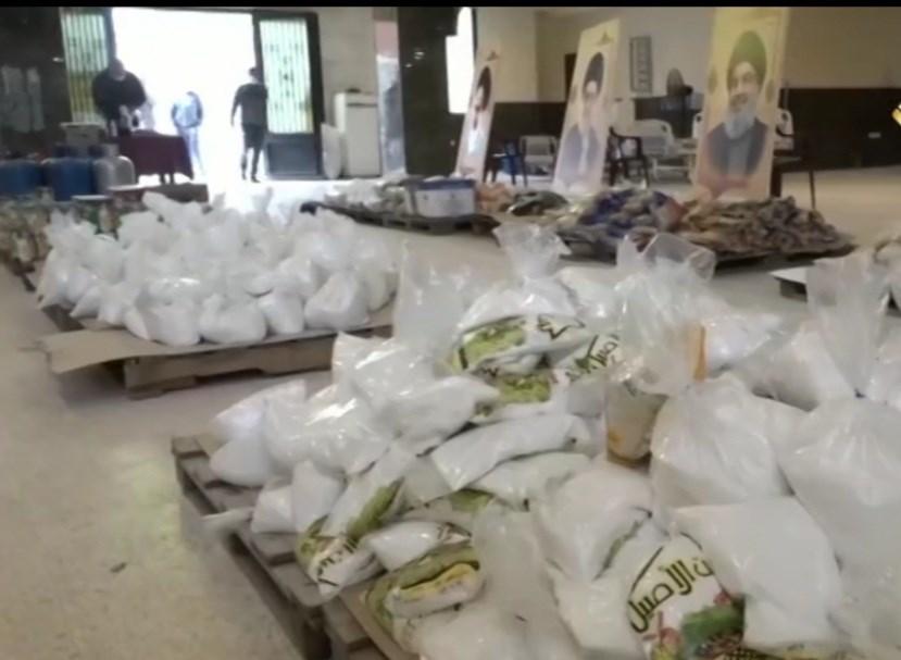 لجان حزب الله تنشط بتوزيع المساعدات المادية والغذائية
